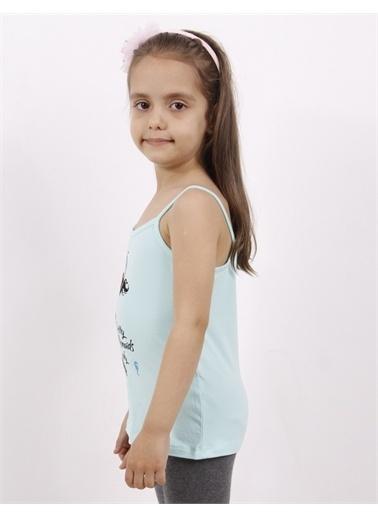 Toontoy Kids Toontoy Kız Çocuk Deniz Kızı Baskılı Pul İşlemeli Atlet Renkli